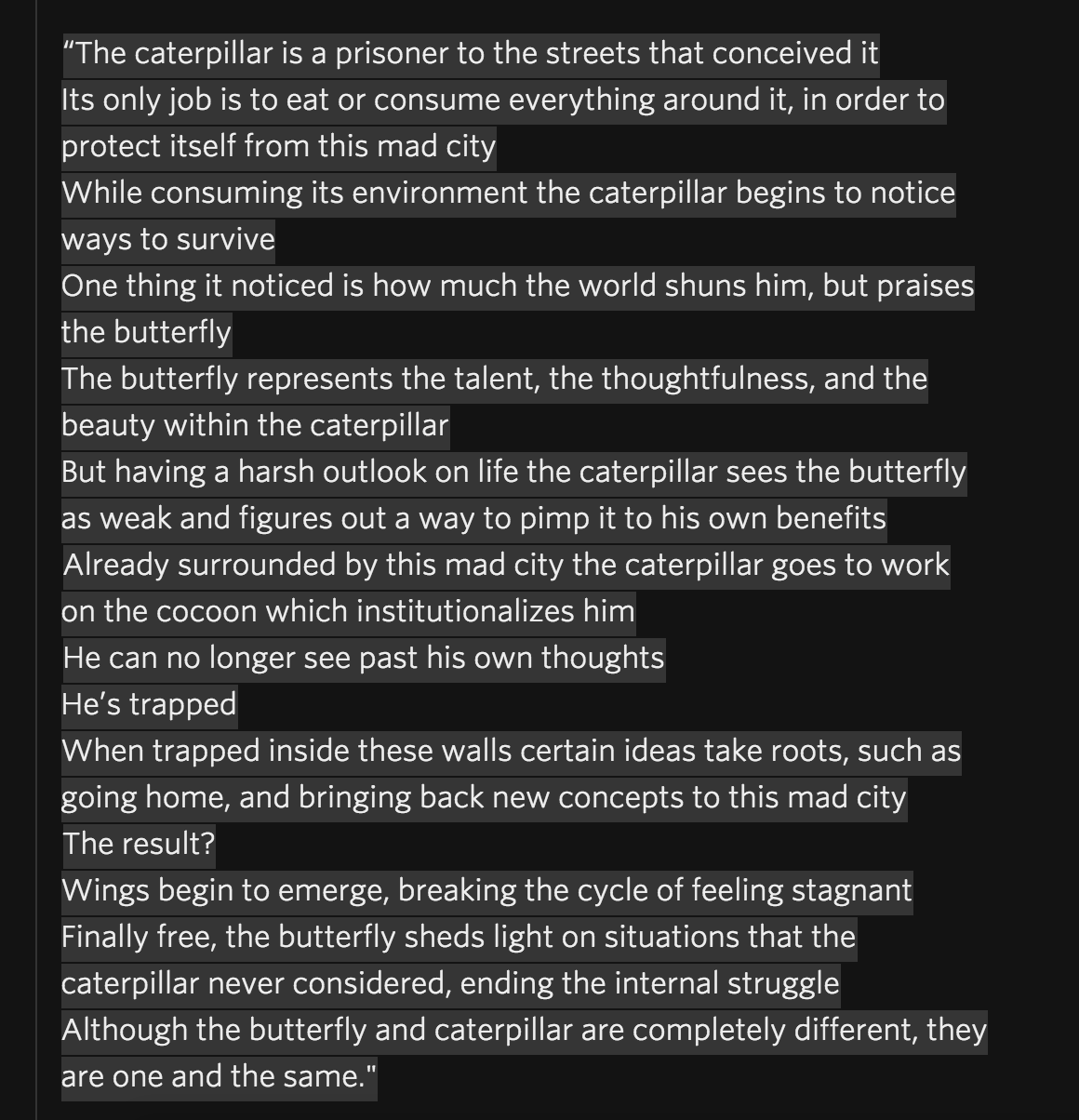 to pimp some butterfly poem
